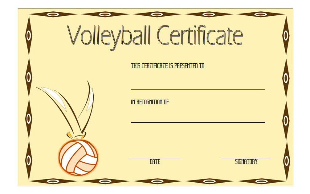 Pin On Volleyball Certificate Ideas Free