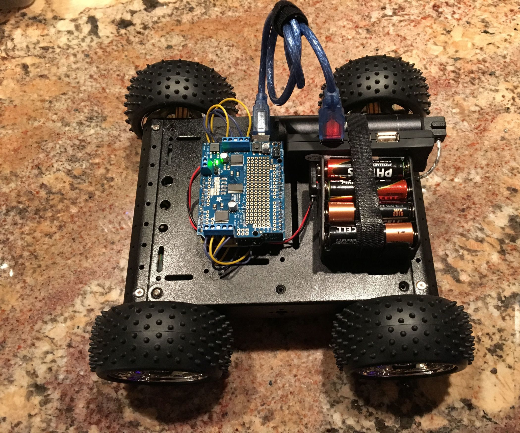 Robot Rover IPhone Controlled Using Blynk Joystick
