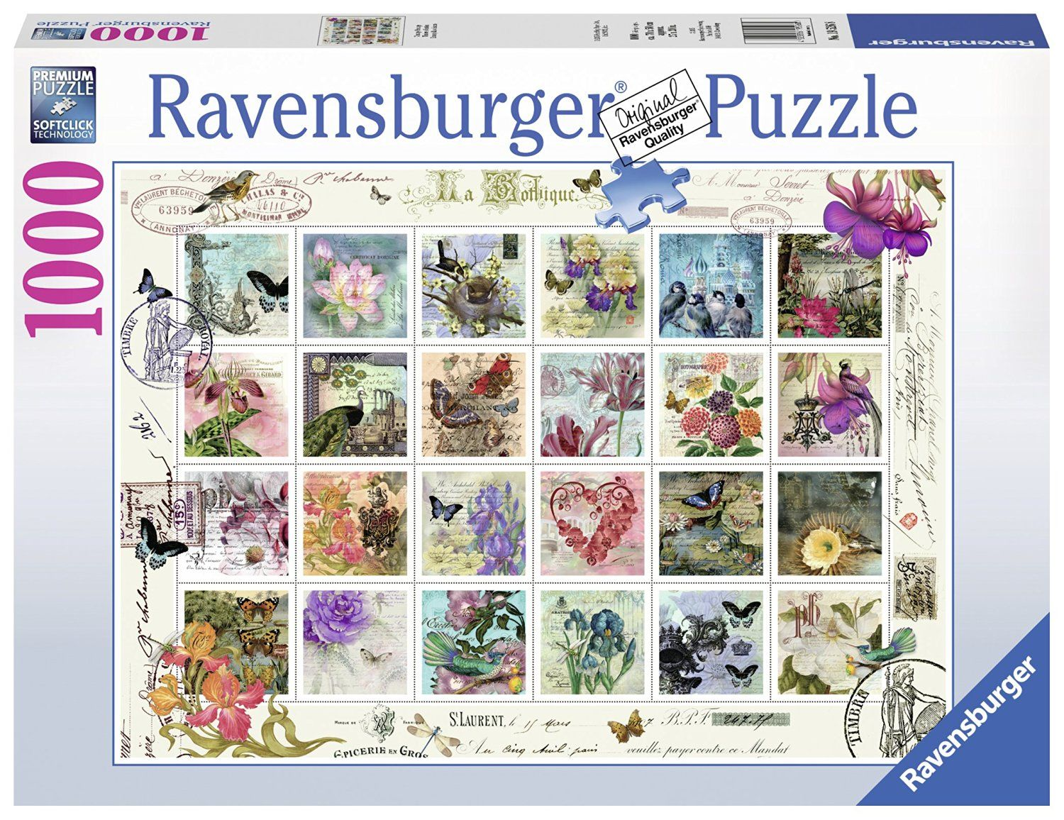 Stamps Clementoni 1000 Pieces 39387 Collection