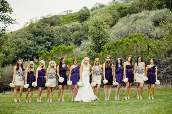 Wedding Wednesday Non Traditional Bridesmaids Dresses