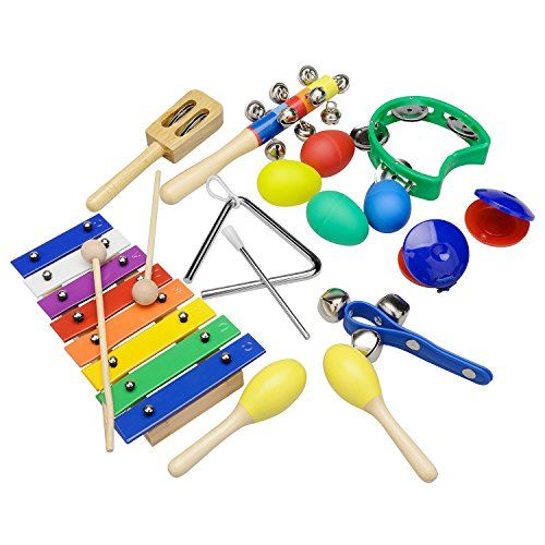 Kid Colorful Safe Wooden Musical Drum Set Instrument Nice Puzzle Toys