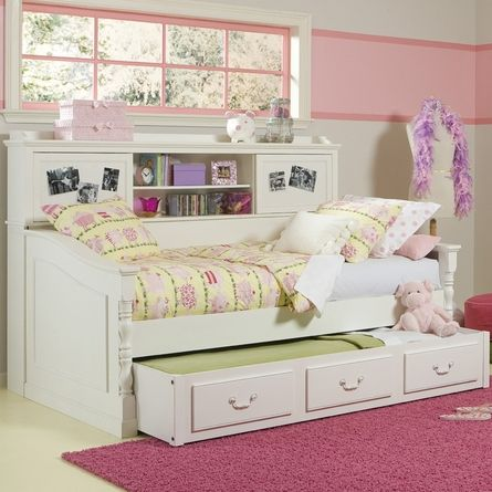 Trundle Daybed With Bookcase Perfect For A Girl To Grow Up With