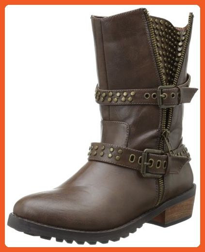 Penny Loves Kenny Women's Alice Motorcycle Boot,Brown,6 M US - Boots for