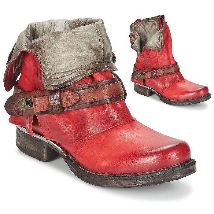 bottines airstep rouge saint bike femme
