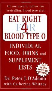 Eat Right For Blood Type O Peter J D Adamo 9780141014784
