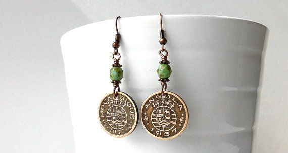Hey, I found this really awesome Etsy listing at https://www.etsy.com/listing/293918929/coin-earrings-mozambique-angola-african