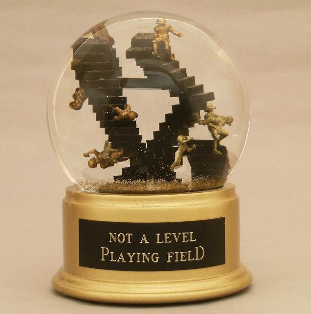 Not A Level Playing Field snowglobe