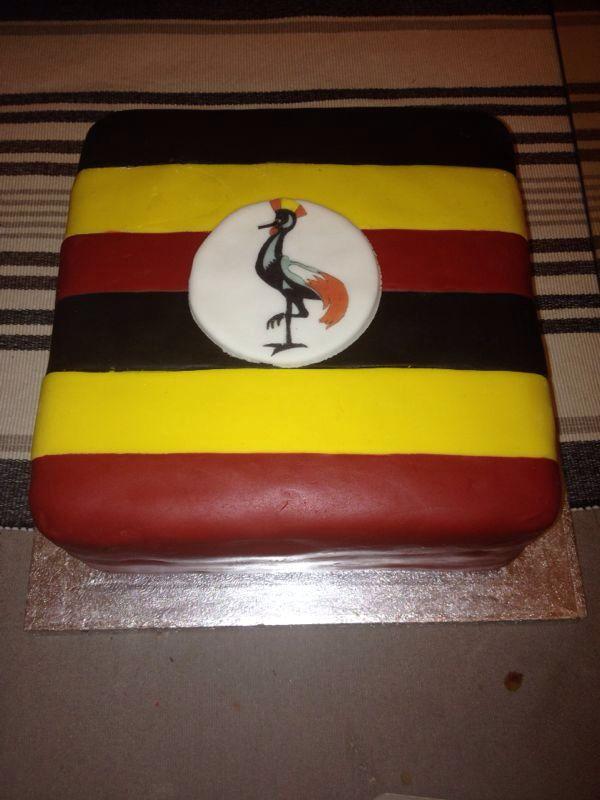 Uganda flag cake
