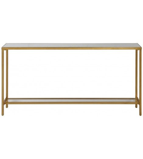 Hasina Console Table Gold Console tables Consoles and Antique gold
