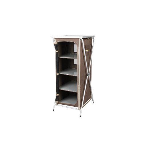 Oztrail 4 Shelf Deluxe Camp Cupboard Shelves Cupboard Cupboard Storage