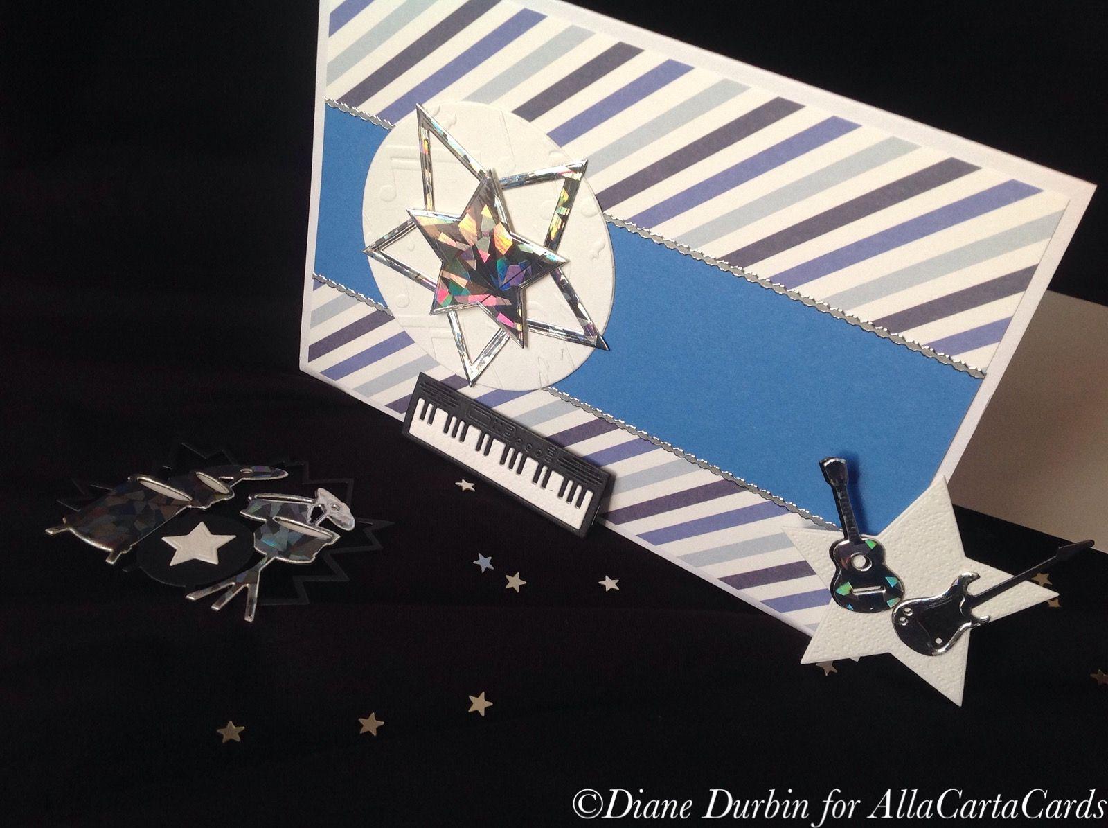 Keyboard Cardguitar Carddrumkit Card For Him Music Greeting
