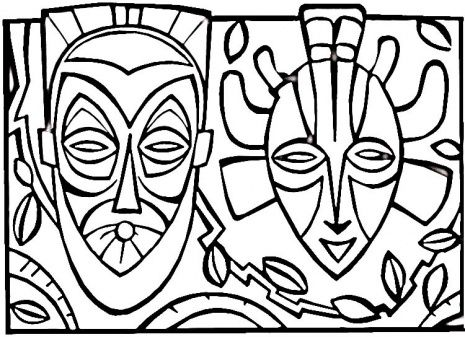 surfboard coloring  African tribal mask coloring pages Index of