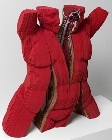 "Marilene Oliver ""SPLIT PETCETRIX"" (2010) Escultura de foam  y cuentas. Medidas:85 x 80 x 35cm"