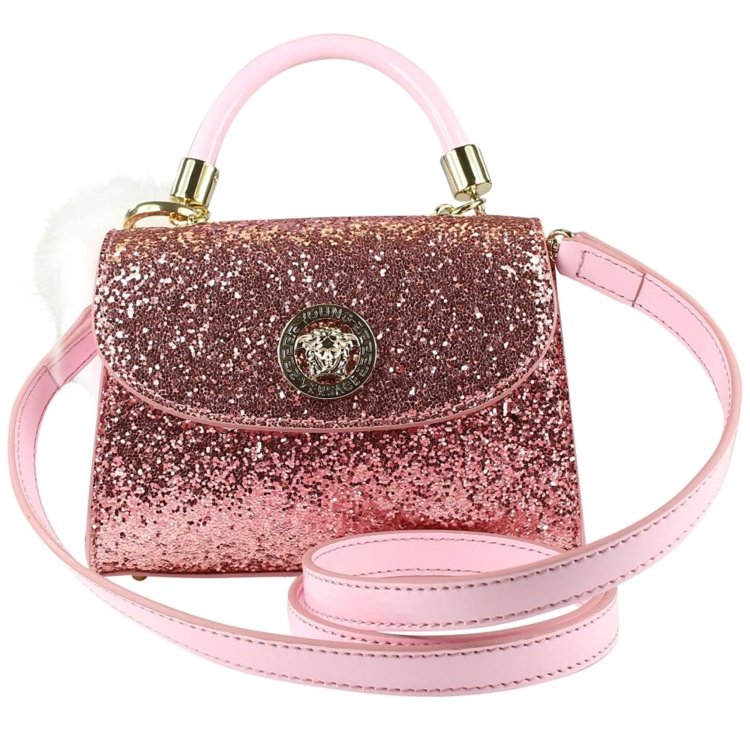 New Young Versace pink glitter bag SS17!  versace  youngversace  kids   fashion dd390dac6f5bf
