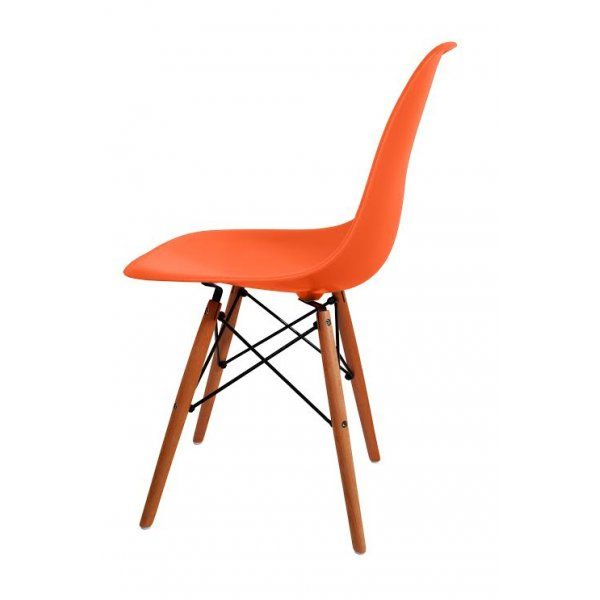 Charles Eames Charles Eames Style DSW U0027Eiffelu0027 Orange Dining Chair    Charles Eames From