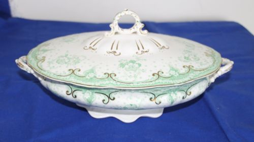 Hearty Pair Of Vintage Alfred Meakin Open Tureens  Serving Dishes Country Life Pattern Alfred Meakin