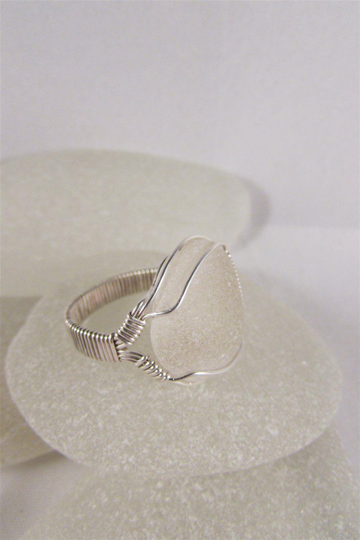 Adjustable Sea Glass Ring - Art Jewelry Magazine - Jewelry Projects ...