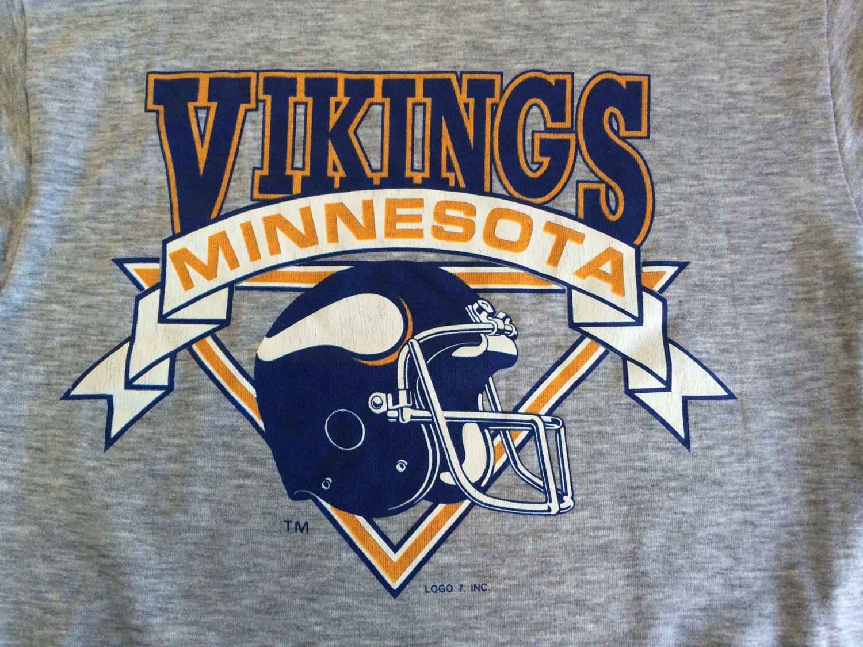 fb48dd278 The MINNESOTA VIKINGS Sweatshirt Vintage 80s  Original Logo 7 Vikes shirt   Soft NFL Football Excellent Condition Medium by sweetVTGtshirt on Etsy