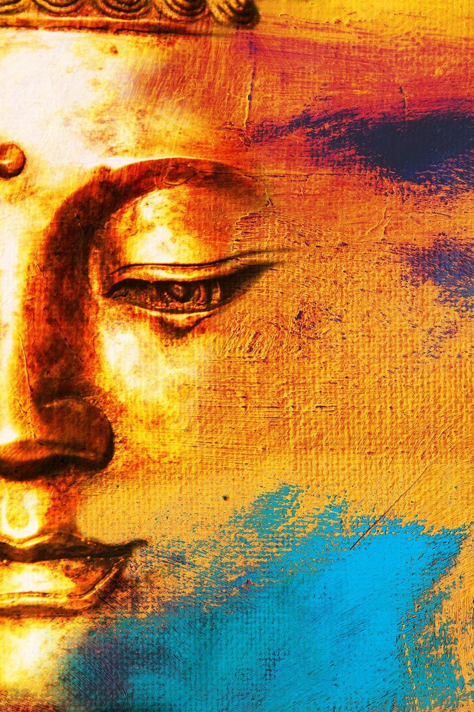 Order Buddha Face Abstract Wallpaper To Create Fantastic Wall Decor
