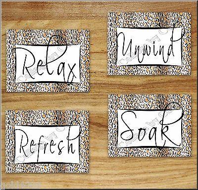 Leopard Cheetah Print Bathroom Bath WORD Art Wall Decor Black Brown White  Taupe | Raegyn | Pinterest | Cheetah Print Bathroom, Word Art Walls And  Bathroom ...