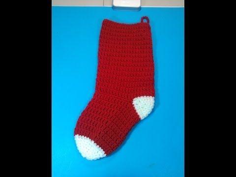 c54e348c0 EASY video to follow to crochet christmas stockings. (2 videos) ▷  Crochet  Christmas Stocking - Video 1 - YouTube