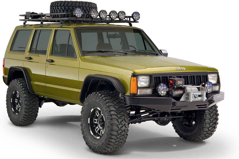 Bushwacker 10922 07 Flat Style Flares For 84 01 Jeep Cherokee Xj
