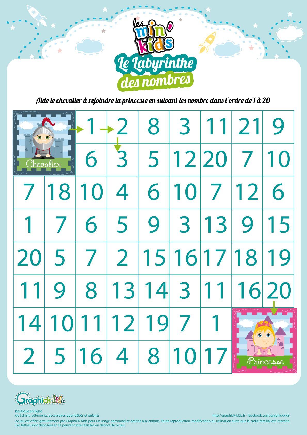 L'activité du mercredi : Le labyrinthe des nombres min ...