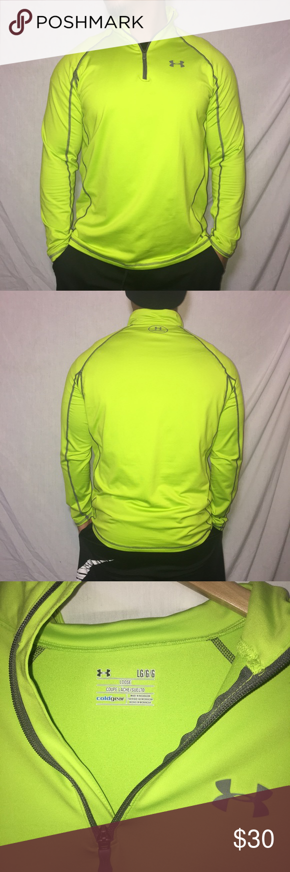 Under Armour Cold Gear 1 4 Zip Up Pull Over Jacket Men S Sizer Large