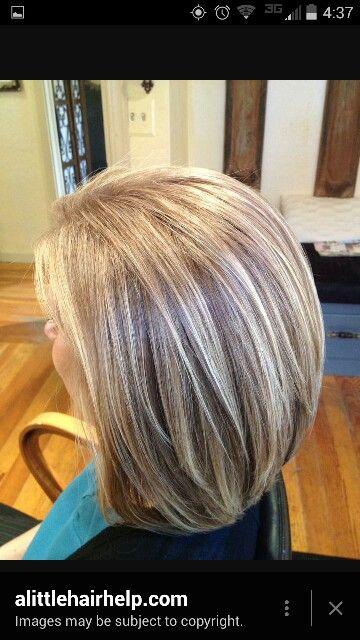 Platnum Highlights In Light Ash Brown Hair Highlights