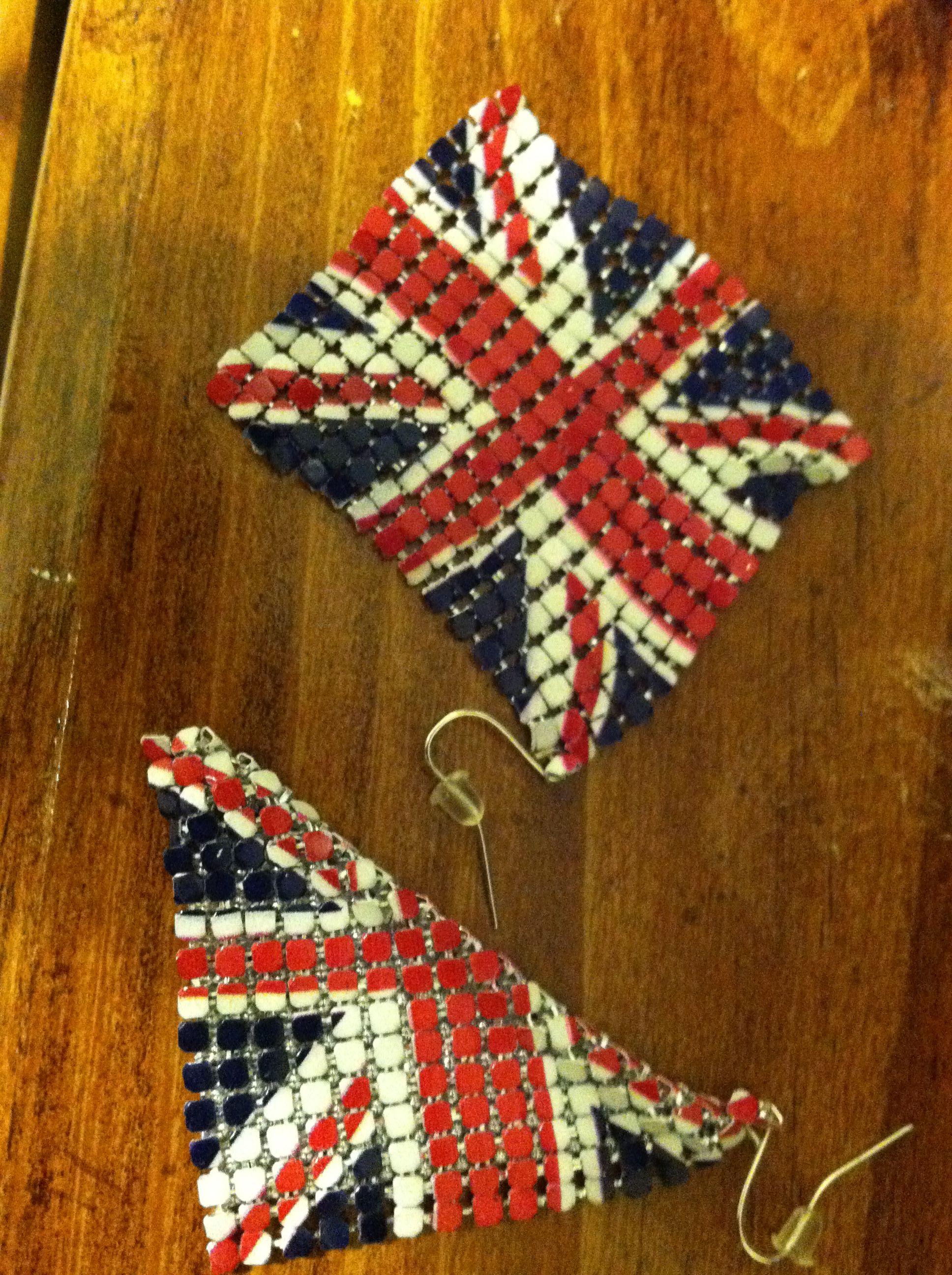 uk earrings   Uk flag, Union jack, Union jack flag