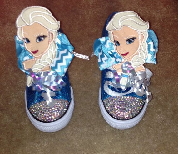 elsa frozen princess inspired tennis shoes by