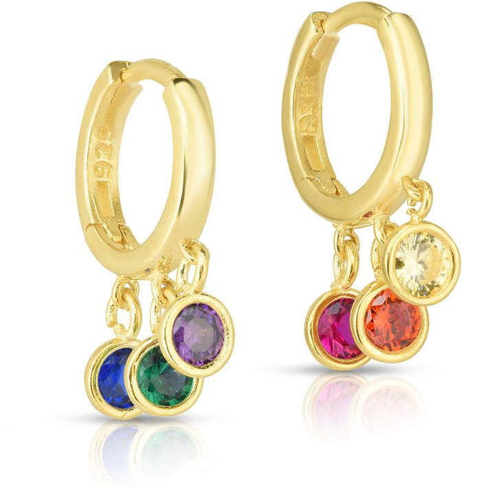 23334c9facde4 Sphera Milano Gold-Plated Rainbow Huggie Earrings in 2019 | Products ...