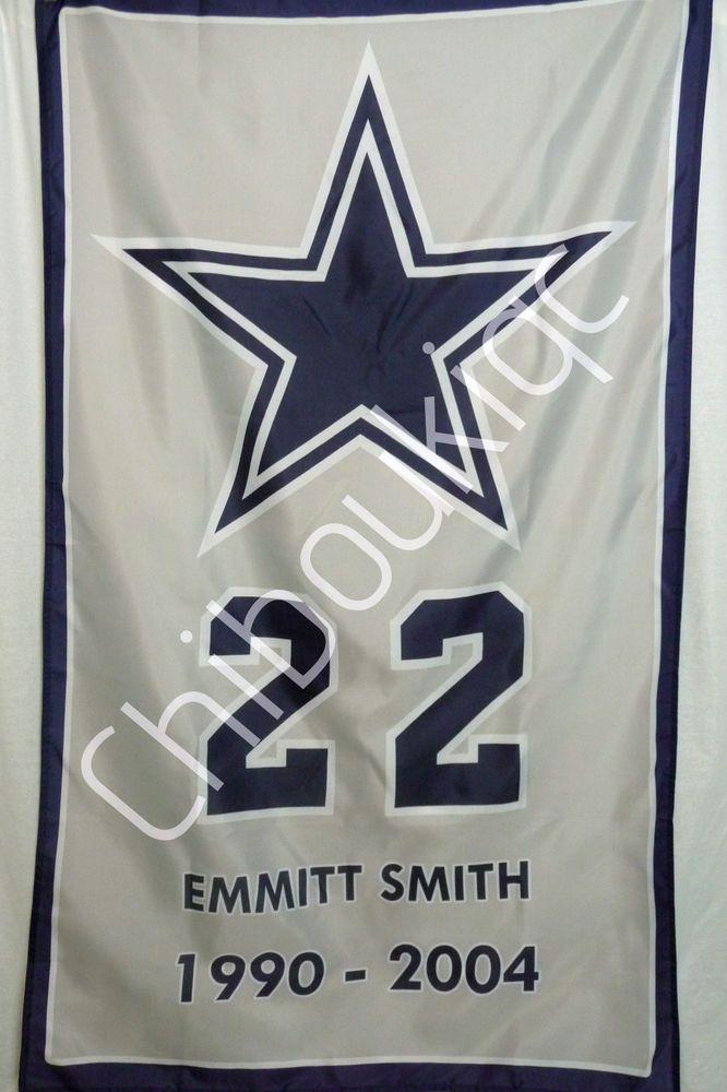promo code 4581e 3d432 Dallas Cowboys Emmitt Smith LARGE 3x5 career banner poster ...