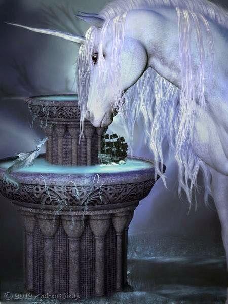 Unicorn and a little fantasy creature
