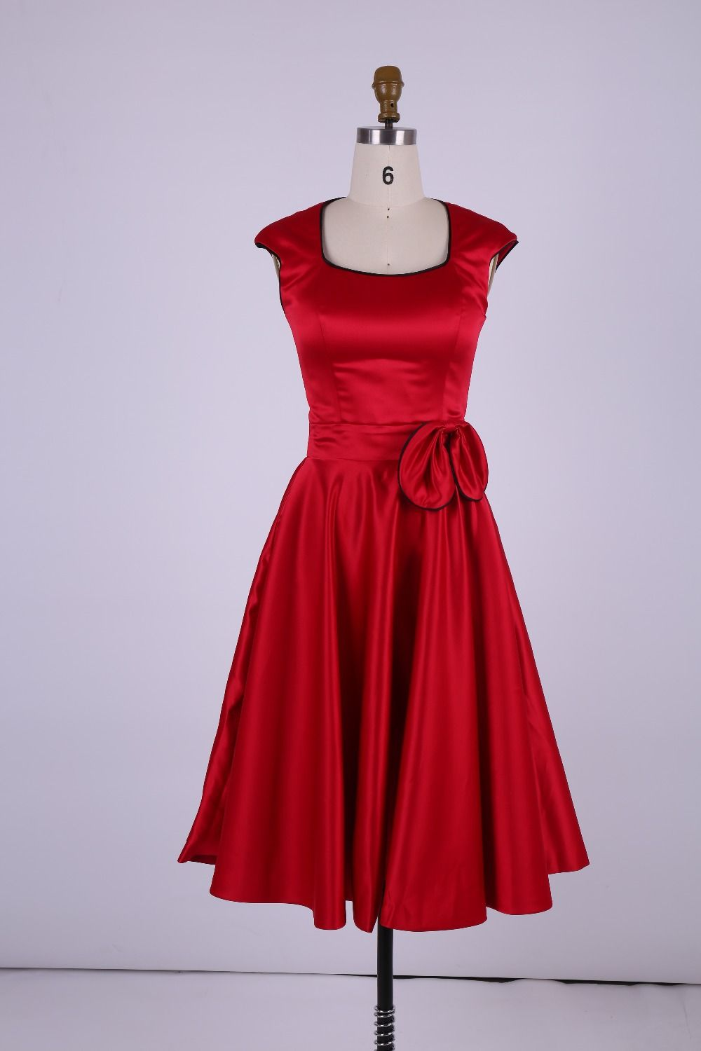 Click to buy ucuc simple short red bridesmaid dresses aline scoop