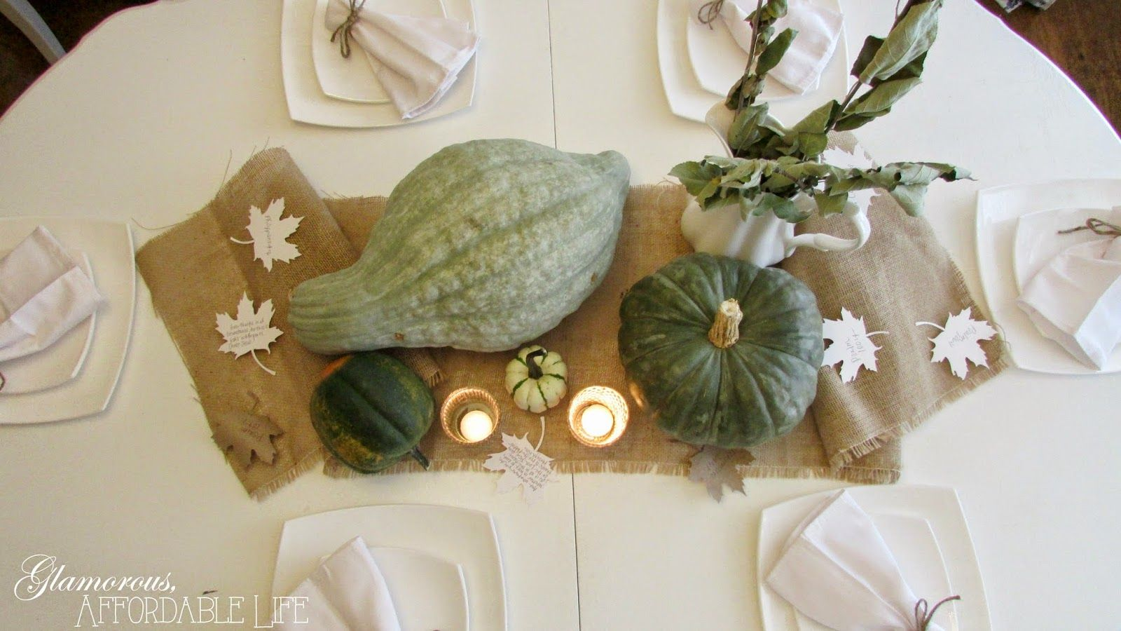 2014 Thanksgiving Tablescape from Glamorous, Affordable Life