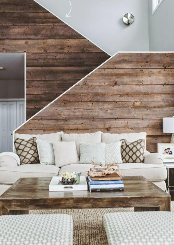 Moderne Wanddeko aus Holz im rustikalen Stil | Architecture ...
