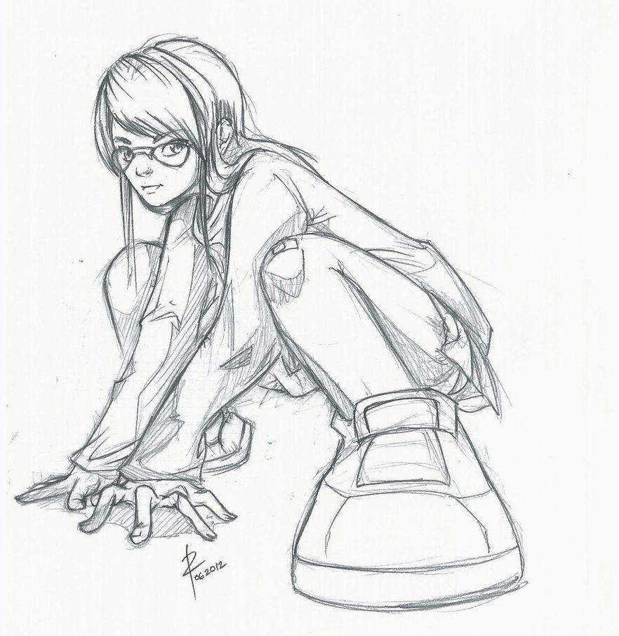 Low Angle Sketch Highschool Girl By Zeusplara Sketches Art Sketches Cartoon Sketches