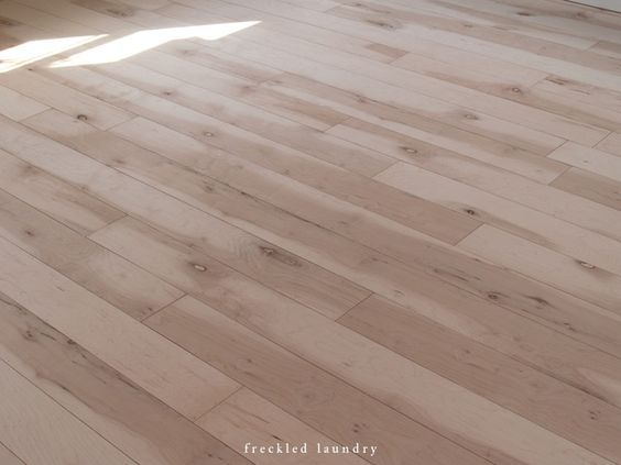 Jami At Freckled Laundry Used Maple Plywood For Affordable Wood Floors Looks Beautiful Wood Planks Diy Plywood Plank Flooring Plank Flooring