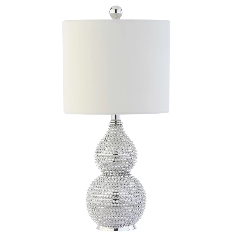 "Shenna Chrome 20"" Table Lamp Silver table lamps, Table"
