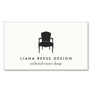 Simple interior design french chair logo cream pack of standard simple interior design french chair logo cream pack of standard business cards reheart Images