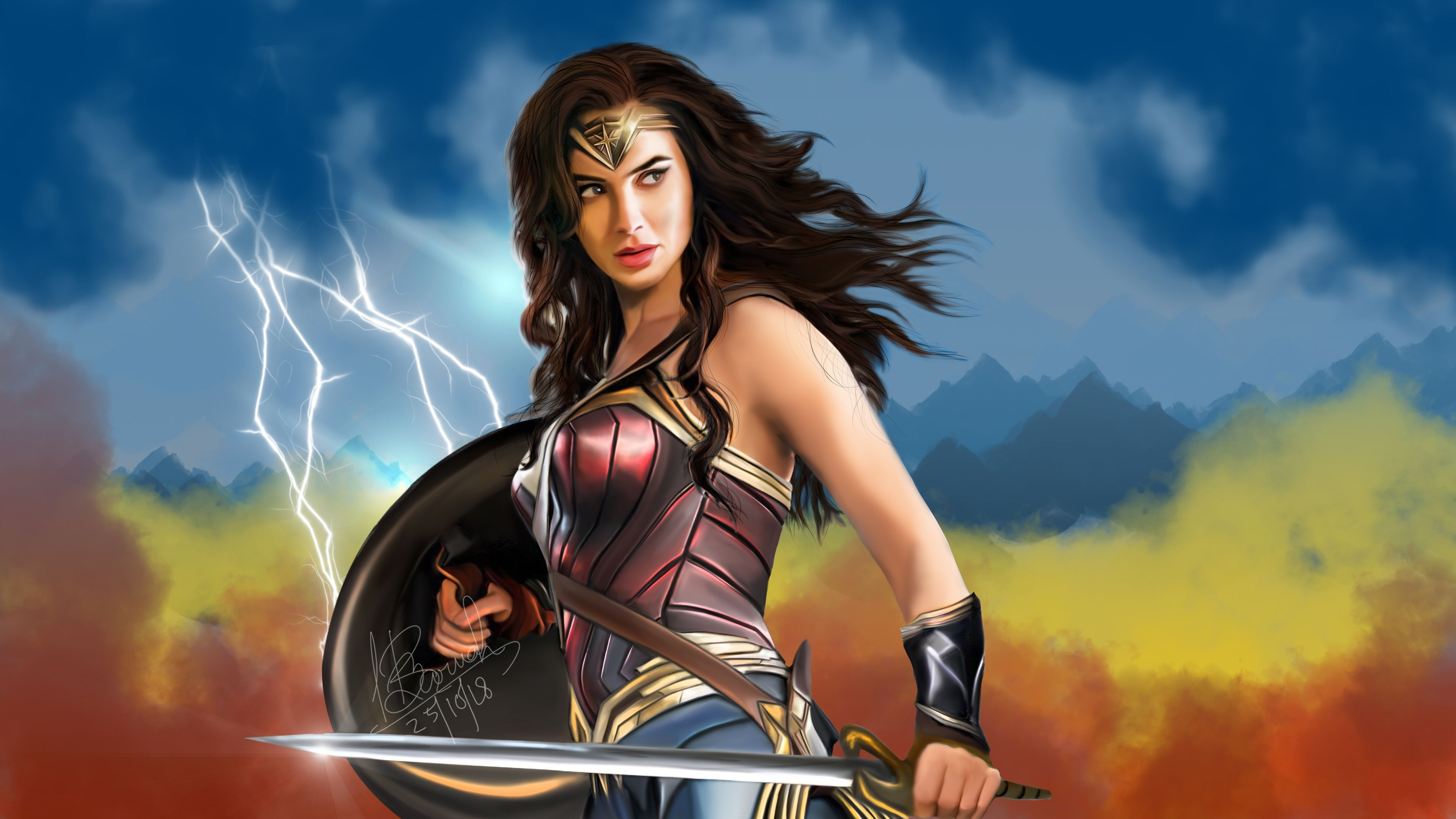Wonder Woman Fan Art 4k Wonder Woman Wallpapers Superheroes Wallpapers Hd Wallpapers Digital Art Wallpapers Dev Wonder Woman Wonder Woman Fan Art Superhero