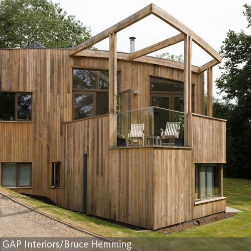 Moderne Holzhäuser Architektur zeitgenössisches holzhaus erhöhte terrasse baumaterial und