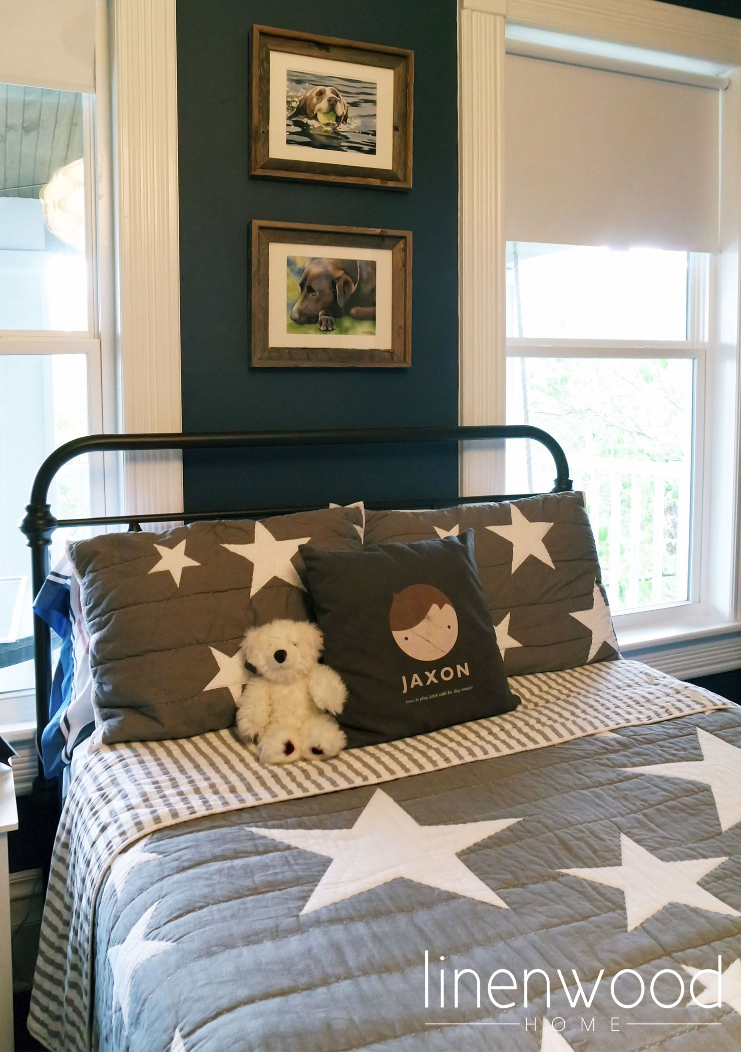 Grey Star Bedding From Target For A Subtle Star Wars Boys Room Www Linenwoodhome Com Star Wars Boys Room Toddler Rooms Boy Room