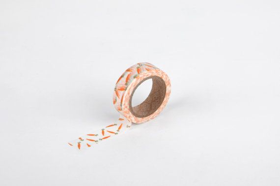 Carrot Masking Tape  DailyLike Korean Washi Tape by WashiWednesday