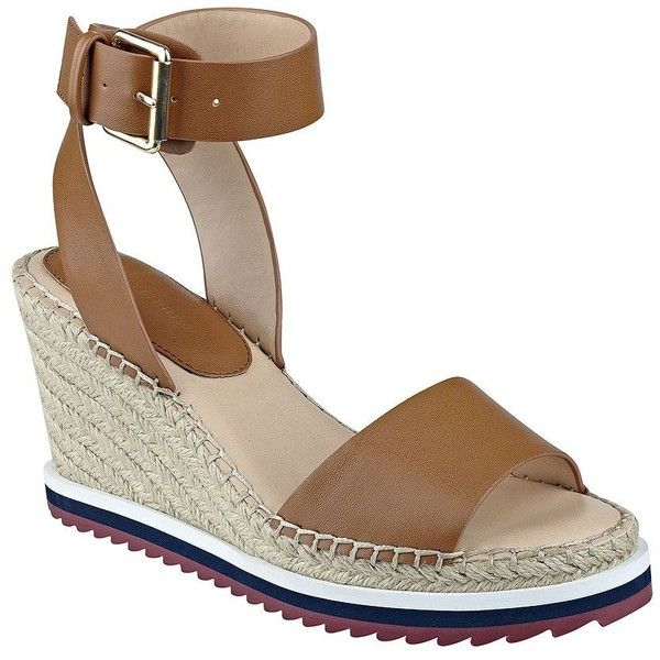 6a54bee5d Tommy Hilfiger Yaslin Wedge Espadrilles ( 39) ❤ liked on Polyvore featuring  shoes