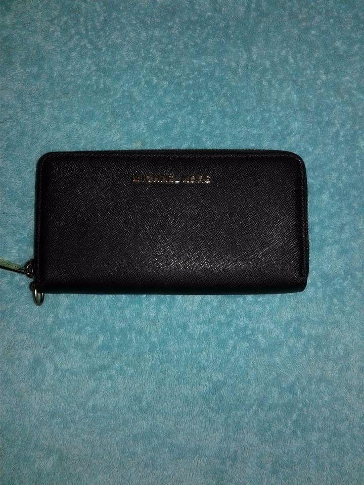 16d082076cb9 Michael Kors Jet Set Travel Continental Zip Around Wristlet Wallet Black   MichaelKors  WristletWallet
