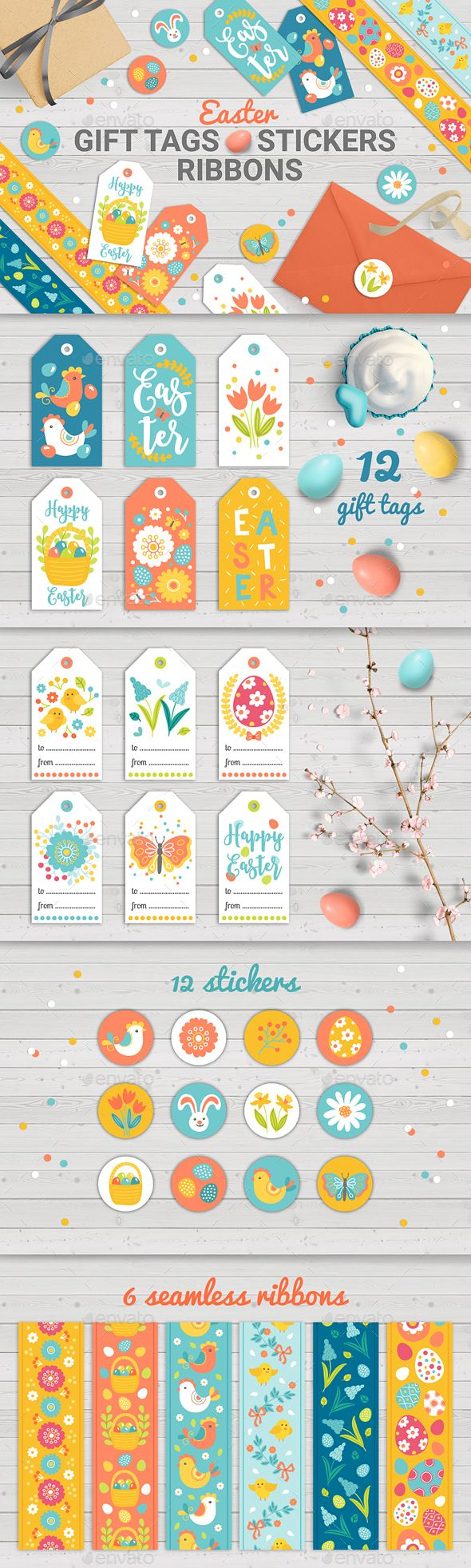 Easter gift tags with sticker and tapes miscellaneous seasons easter gift tags with sticker and tapes miscellaneous seasonsholidays negle Gallery
