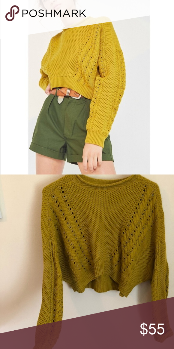 Hp Urban Outfitters Bdg Yellow Crop Sweater My Posh Picks
