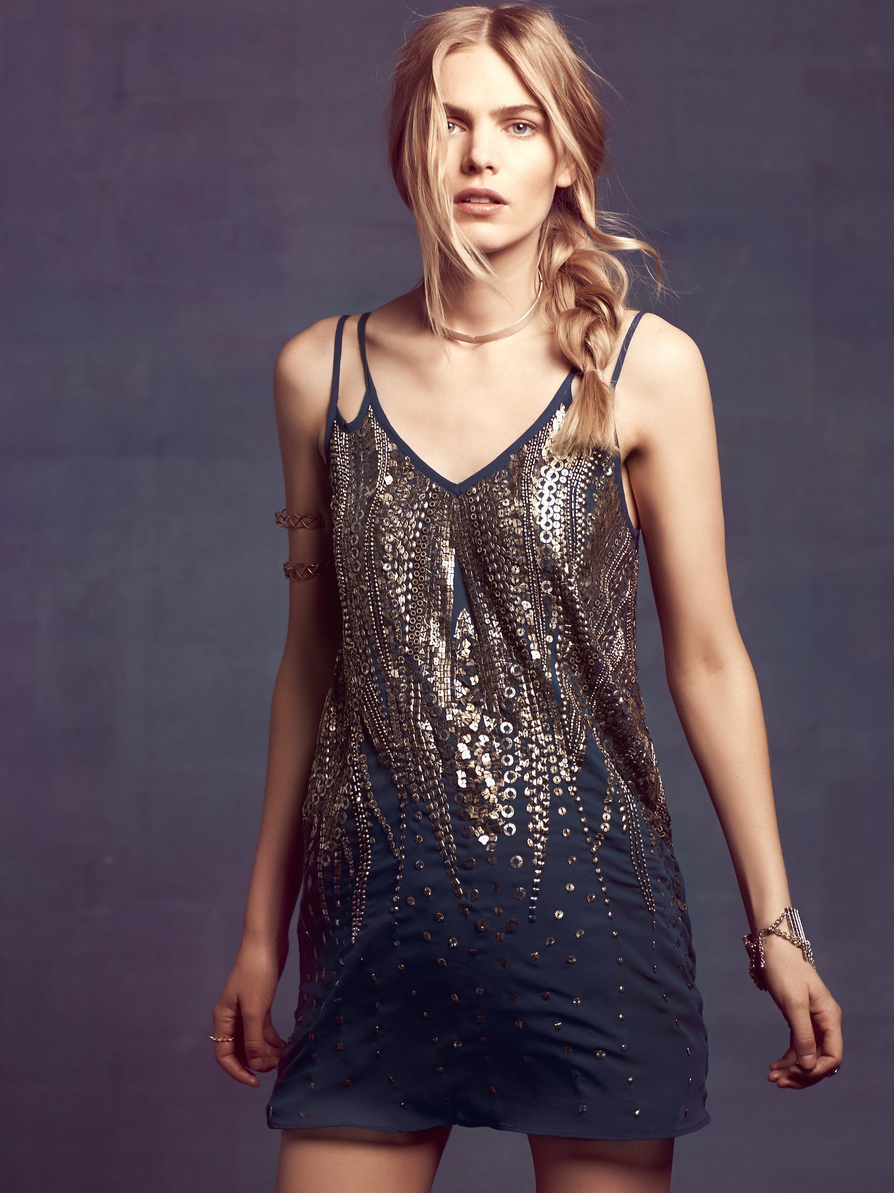 Free People Embellished V Shift Dress,OBSESSED with this dress, why ...